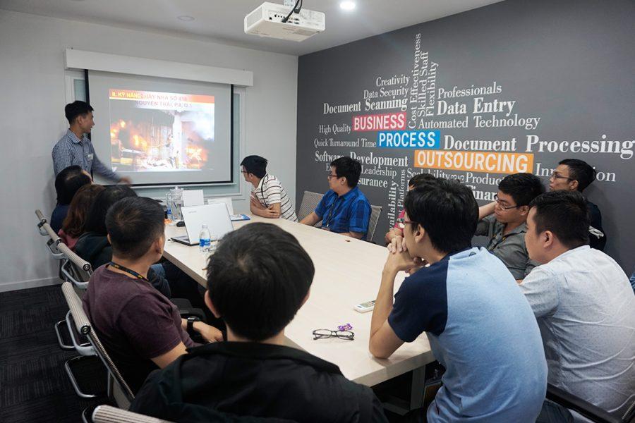 Nhân viên SaigonBPO nhận huấn luyện nhận thức về PCCC